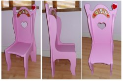 Childs Princess Chair Large Picture 01 - CHILDRENS BEDROOM