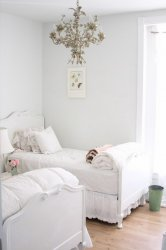 Comfortable Girls Bedroom Decorating Ideas with White Bedroom