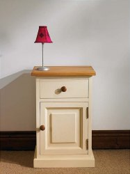 Kendall Pine 1 Drawer Bedside Table Ebay - AxSoris
