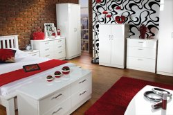 Mayfair High Gloss Bedroom Furniture with UK delivery by The
