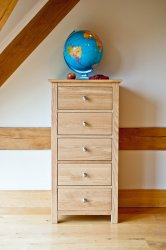 Oxford Oak 5 Drawer Narrow Chest | The Oxford Oak Bedroom