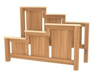 Waterfall Wardrobe Dresser | Solid Wood Dresser in the Waterfall Style