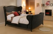 Awesome Wicker Bedroom Furniture Regarded As Durable Furniture : Fabulous Black Wicker Bedroom Furniture Small Bed White Oak Flooring
