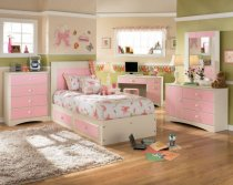 Luxurious Girls Bedroom Furniture with White Bed: Beautiful Color Girls Bedroom Furniture Cream Rug Kids Desk With Computer ~ rugdots.com Bedroom Designs Inspiration