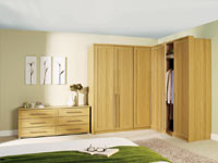 Oak shaker doors with an oak wardrobe frame